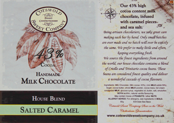 Handmade Milk Salted Caramel Chocolate Bar