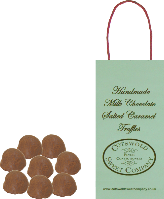 Milk Chocolate Salted Caramel Truffles Boutique Bag