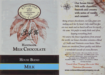 Handmade Milk Chocolate Bar