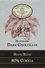 Handmade 80% Dark Chocolate Bar