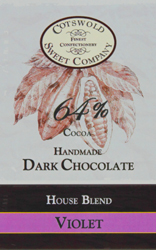 Handmade Dark Chocolale Violet Bar