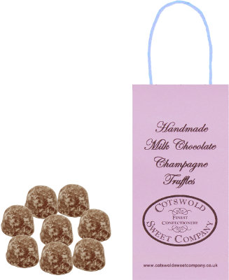 Milk Chocolate Champagne Truffles Boutique Bag